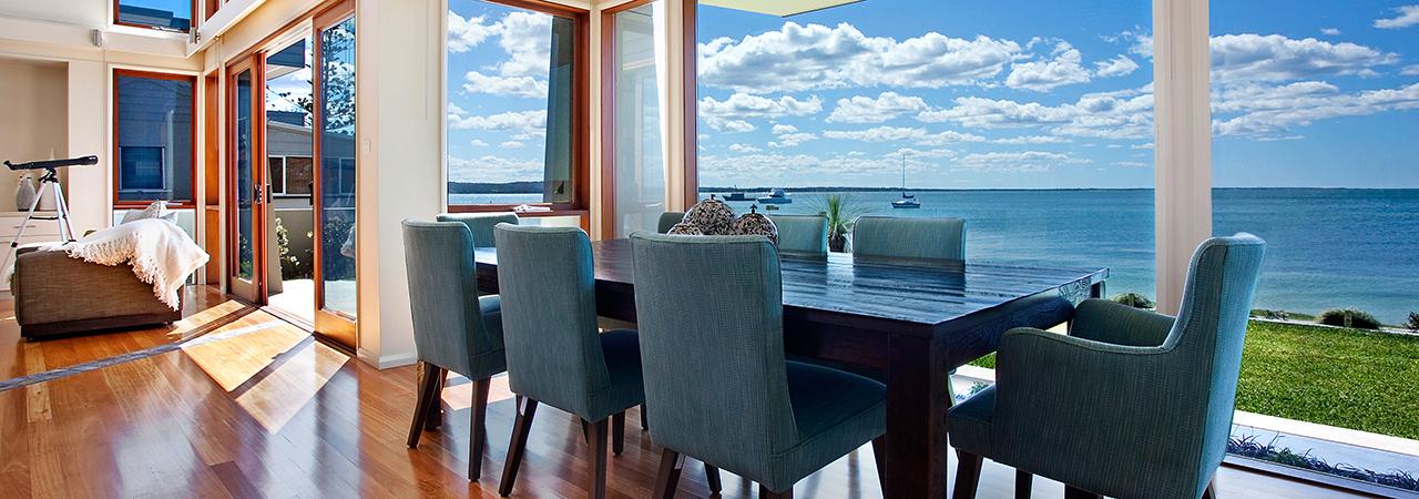 interior home overlooking ocean